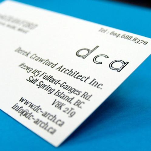 Business card all over raised standard colourmoves