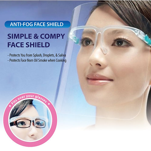 Protective Face Shield with Glasses (Glasses+Mask)