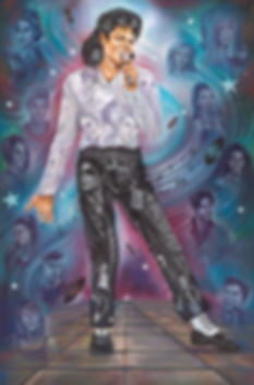 Michael Jackson painting portrait,king of pop painting,