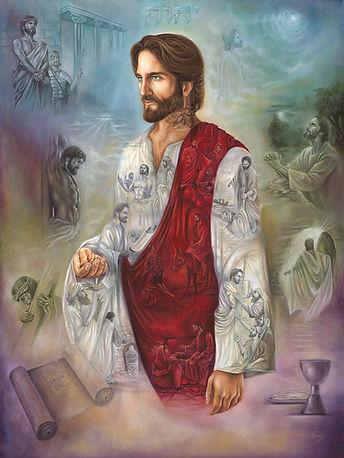 jesus painting, bible painting, jesus portrait