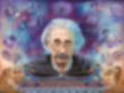 Albert Einstein portrait painting
