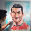 Portraits made of toothpaste World Cup p