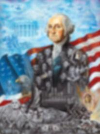 Washington portrait painting, american history painting
