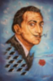 Dali potrait painting