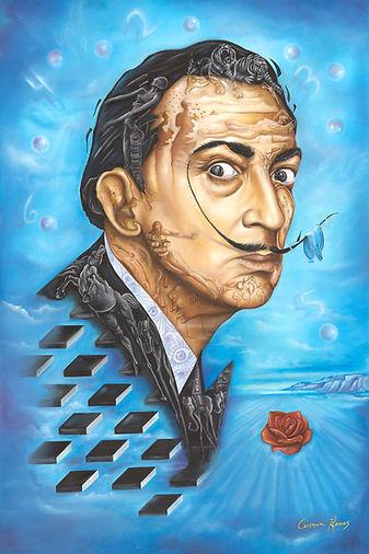 salvado Dali portrai, Dali painting