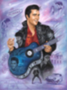 Elvis Presley portrait, elvis painting, king of rock and roll