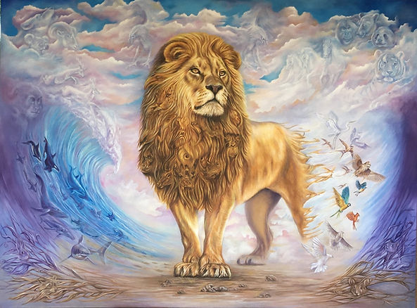 lion Painting, wild life painting