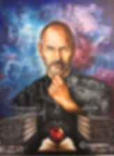 Steve Jobs painting by Cristiam Ramos