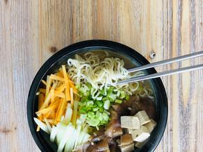 Soupe de nouilles au miso - Vegan