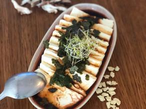Tofu soyeux et sauce soja pimentée