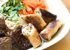 BoBun Vegan - nems aux légumes et pst