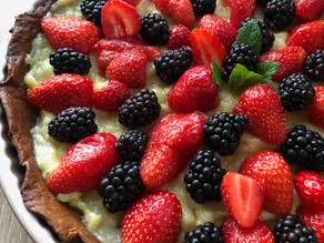 Tarte aux fraises - Crème pâtissière Vegan