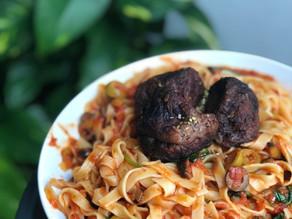 Les meilleures boulettes italiennes - Tagliatelles sauce tomate