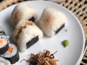 Onigiri, boulettes de riz japonaises - Vegan