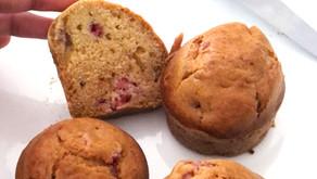 Muffins aux framboises - vegan