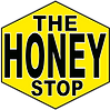 The Honey Stop logo honey comb hexagon bee shop