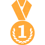 circle-medal-with-wreath-and-number-1-si