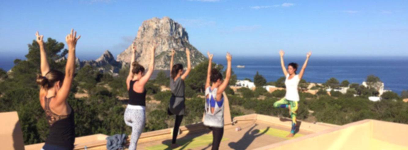 rooftop yoga session ibiza powerspot retreats