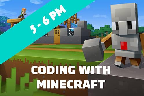 Beginner Minecraft Coding - Wednesdays (Jan - April 2021 | 5pm - 6pm)