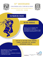 """""""51 Aniversario Tuna Femenil Azul y Oro de la UNAM"""""""