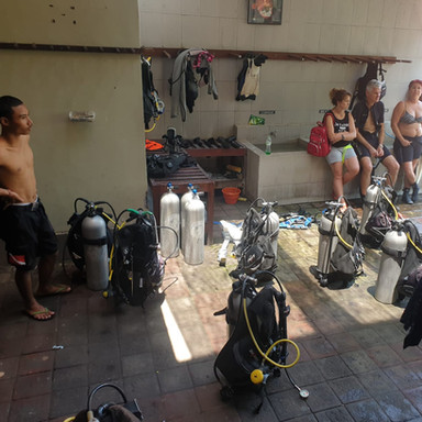 Dive group getting ready