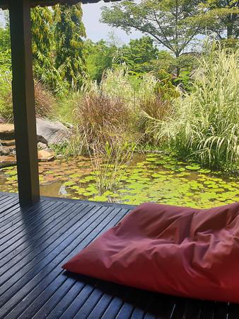 Family Room Private Pond and Gazebo