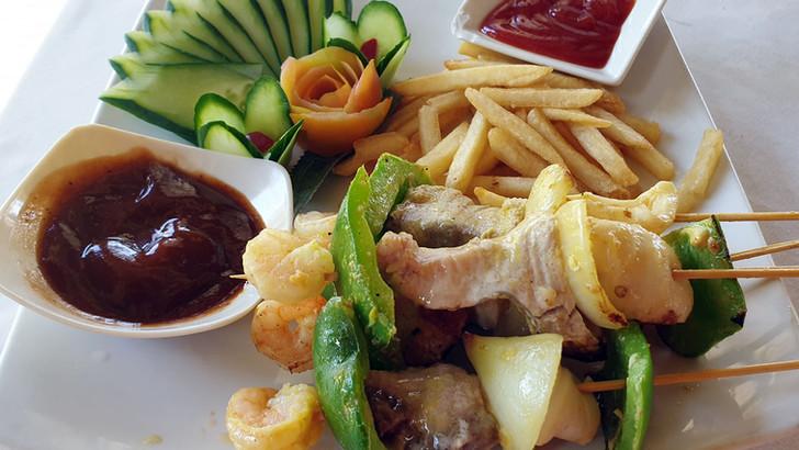 Fresh Grilled Seafood Skewers