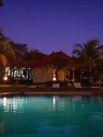Private Villas at Night