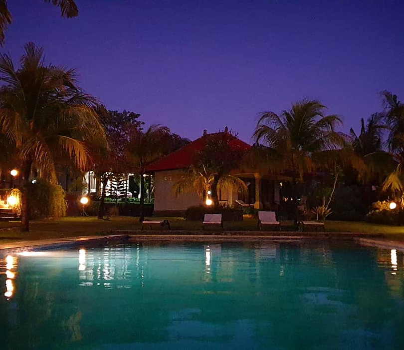 Private Villas at Night