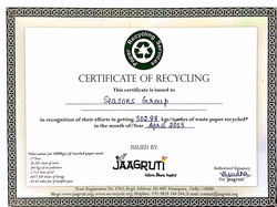 Certificate of Recycling