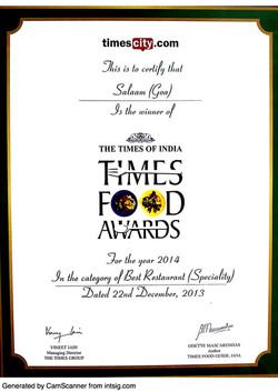Times Food Award - 2014