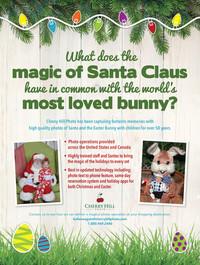 Mall Santa and Easter Bunny Ad