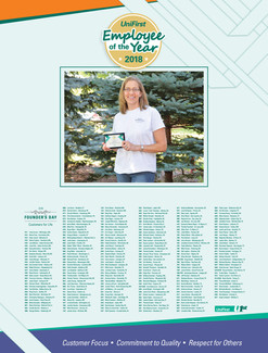 UniFirst Employee of the Year Poster