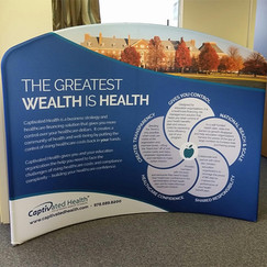 Captivated Health Trade Show Display