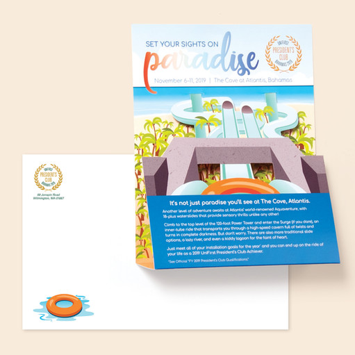 President's Club 3D Direct Mail Piece