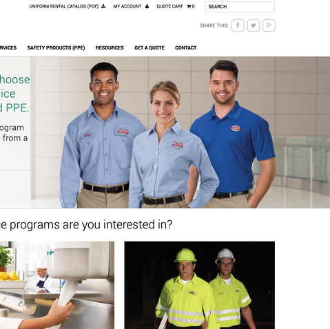 UniFirst Rental Selection Website