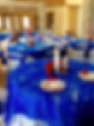 Red White and Blue Love Head Table View.