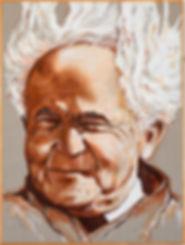 ציור בן גוריון מאת האמן רפאל ד. מיימון