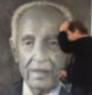 האמן רפאל מיימון ושמעון פרס