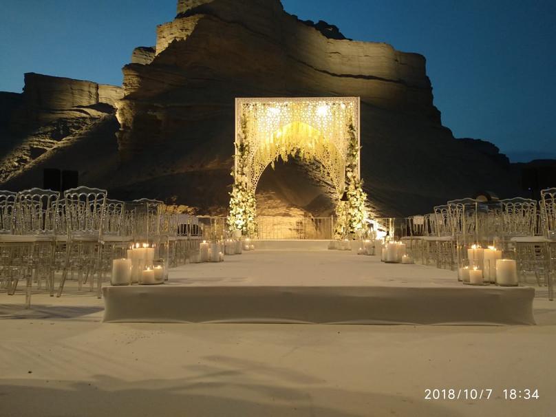 חופה מיוחדת , תפאורה לחתונה במצפה רמון