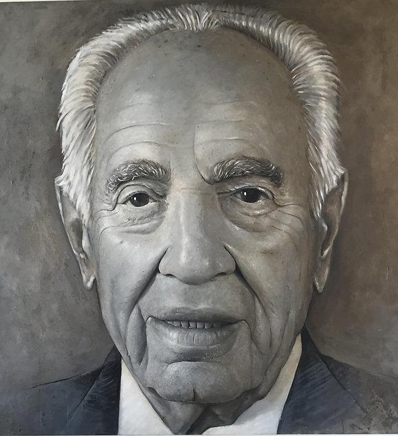שמעון פרס עבודת אמנות מהאמן הישראלי רפאל ד. מיימון