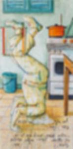 בן גוריון עומד על הראש - האמן רפאל מיימון