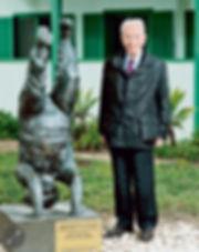 פרס בשדה בוקר ליד פסל בן גוריון