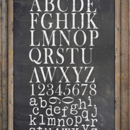 "Type Setting Decor Stamp 12""x12"""