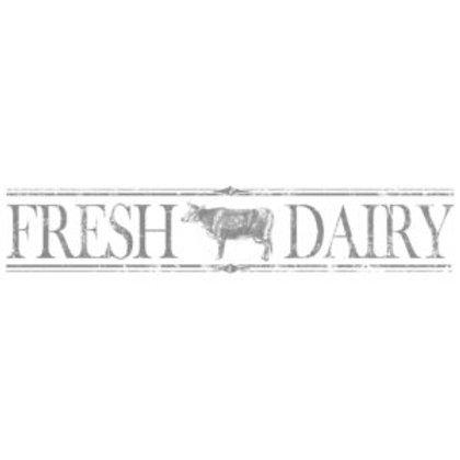 "First Generation: Fresh Dairy decor transfer 59.5""x11.3"""