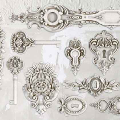 "Lock and Key Decor Mould 6""x10"""