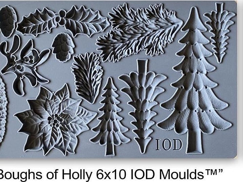 Boughs of Holly Decor Mould
