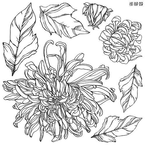 Chrysanthemum Decor Stamp