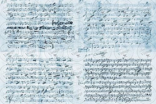 "'Music Notes' JRV Decoupage Paper 20""x30"""