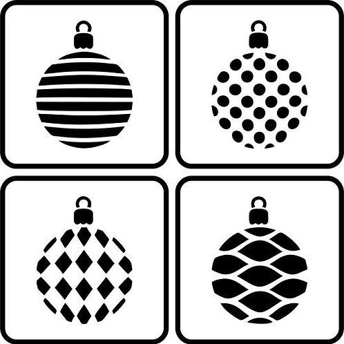 Christmas Balls Stencil